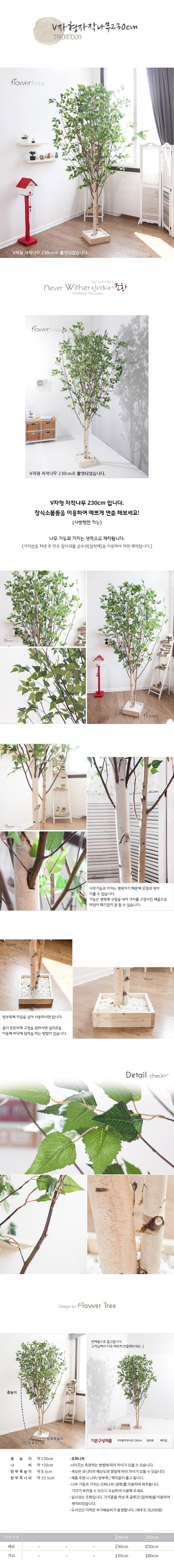 V자형자작나무 230cm FREOFT - 플라워트리, 286,000원, 조화, 카네이션(조화)