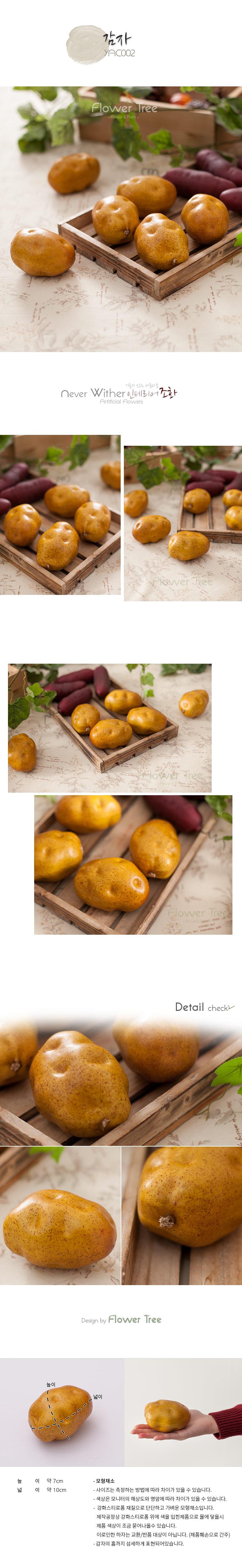 감자 FOFDFT 모형 모조 과일 채소 소품 주방장식 - 플라워트리, 990원, 미니어처, 음식
